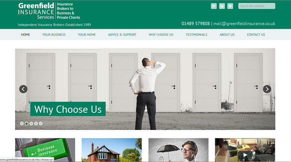 Greenfield Insurance Services Website