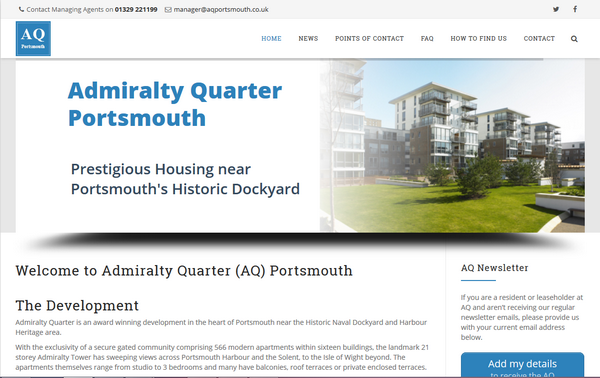 Admiralty Quarter website