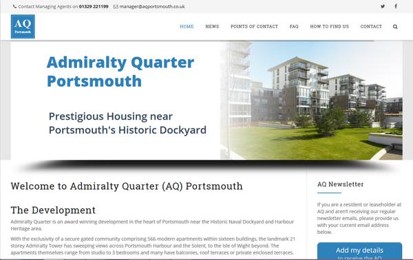 Admiralty Quarter website