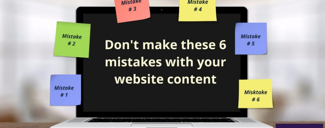 website content mistakes
