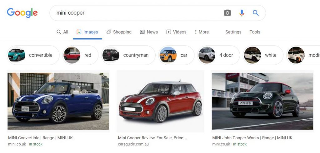 The importance of images in search results