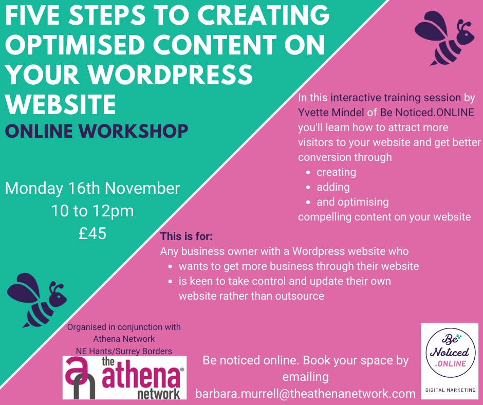 wordpress workshop 16 Nov 20