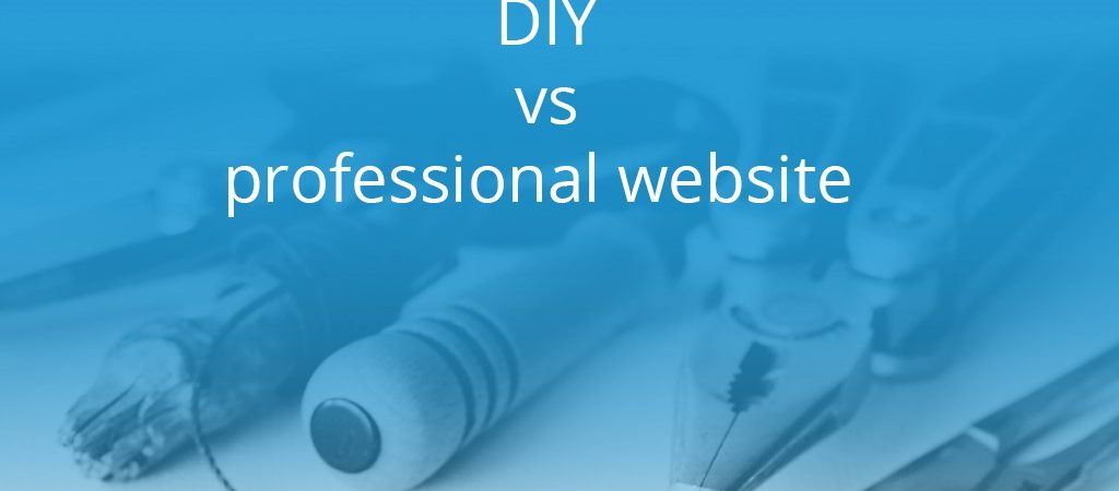 DIY vs professional website